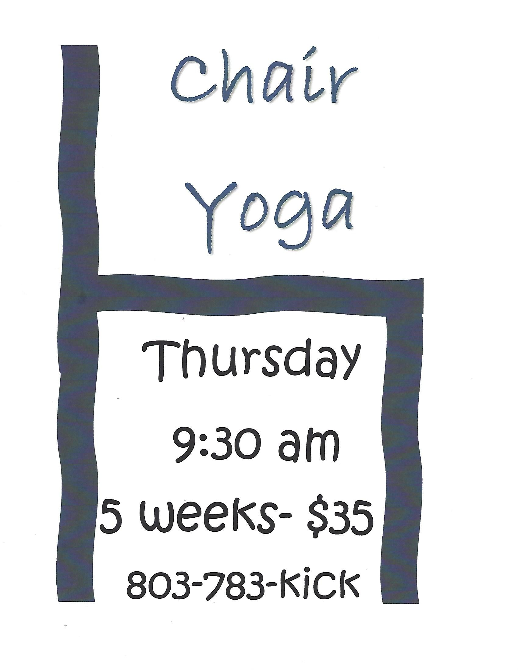 Chair Yoga Sign